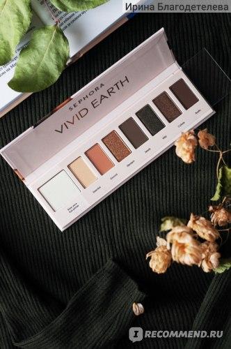 Палетка теней для век Sephora Vivid Earth Palette фото