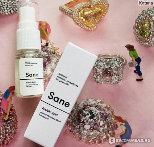 Гель от прыщей Sane Azelaic Acid Acne & Rosacea  Spot Treatment фото