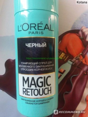 """Тонирующий спрей для мгновенного закрашивания отросших корней L'Oreal """"Magic Retouch"""" фото"""