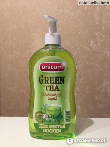Средство для мытья посуды Unicum Green Tea фото