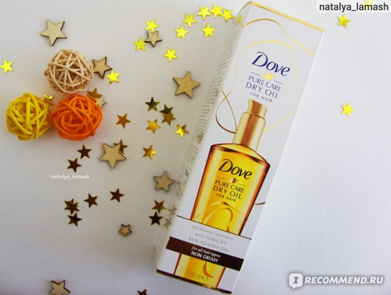 Масло для волос Dove Pure Care Dry Oil for hair