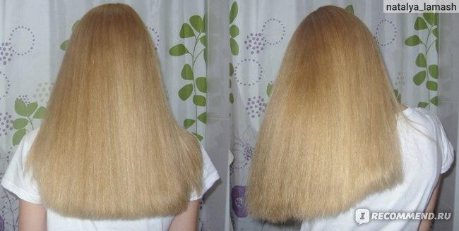 Волосы после применения геля Биосилк в качестве несмываемого средства
