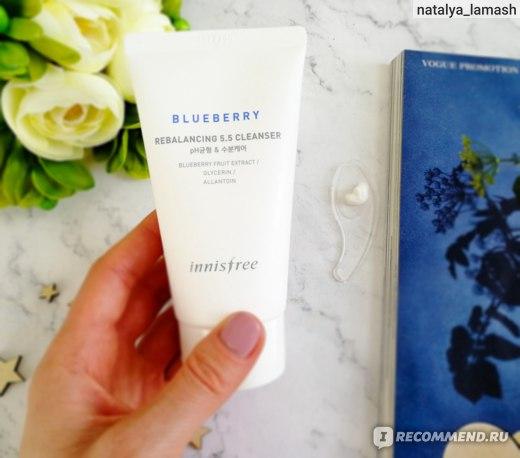 Innisfree Blueberry Rebalancing 5.5 Cleanser Балансирующая пенка для умывания с экстрактом голубики