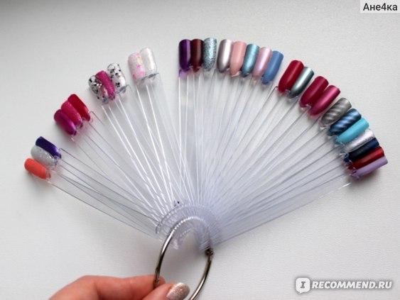 Дисплей для демонстрации лака для ногтей Aliexpress   50 Tips Fan-Shaped Nail Art Display фото