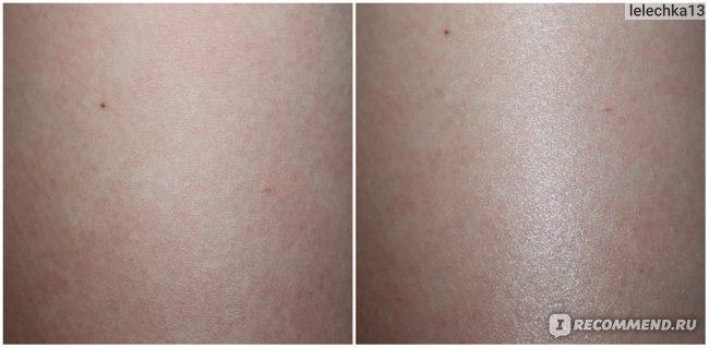 Распределенное по коже масло (на правую ногу)