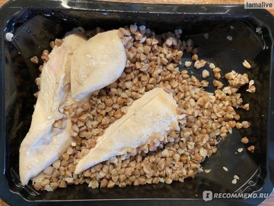 Куриное филе запеченное с соусом терияки и отварная гречка