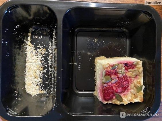 Ягодно-творожное пирожное