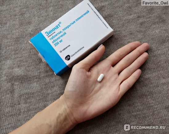 Антибиотики  Зиннат  фото