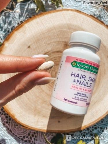 Витамины для волос, кожи и ногтей Nature's Bounty Hair, skin & nails Health & beauty With biotin фото