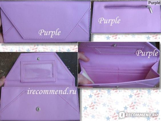 Женский кошелек Tinydeal Stylish Leatherette Clutch Bag Envelope Wallet Billfold Purse Burse for Girl Woman NBG-58421 фото
