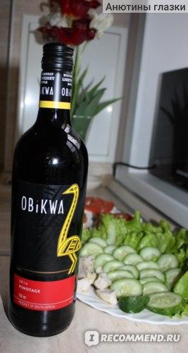 Вино красное сухое Obikwa Pinotage фото
