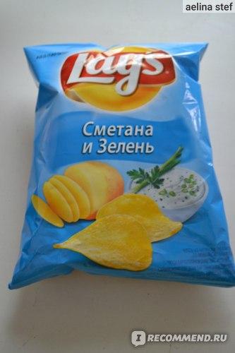 """Чипсы картофельные Lays """"Сметана и зелень"""" фото"""