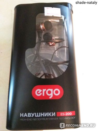Наушники ERGO ES-200 Bronze