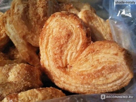 Печенье сдобное слоёное Добродия Ушки сахарные