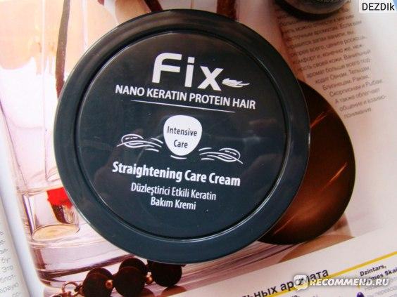 Кератиновое выпрямление Fix Nanokeratin Protein Hair Intensive нанокератин, выпрямление и восстановление волос  фото