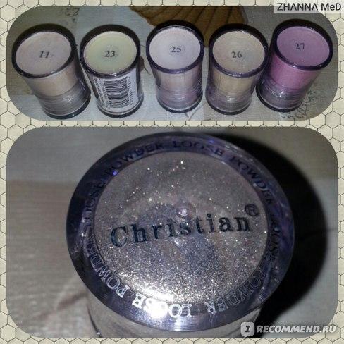 Тени для век рассыпчатые Christian Loose Powder Eyeshadow Порошкообразные с перламутром ( объем 3g )  фото