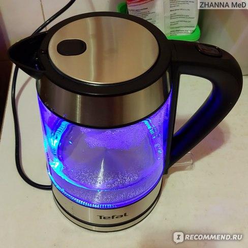 Электрический чайник Tefal Glass kettle KI730D30 объемом 1,7 л. фото