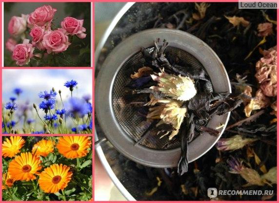 Чай черный Царство Ароматов С розой, васильком и календулой фото