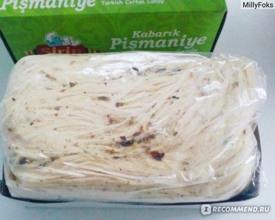 Восточные сладости Sirin Sekerleme Kabarik Pismaniye Turkish Cotton Candy - Турецкая сладкая вата с фисташкой фото