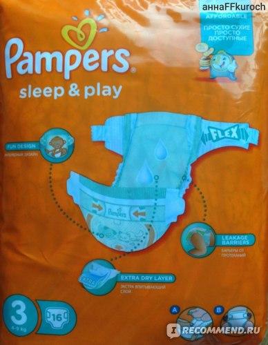 Подгузники Pampers Sleep & Play фото
