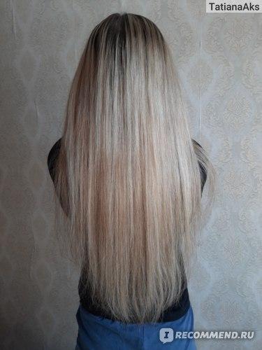 Фото волос, после использования ухода от Garnier.