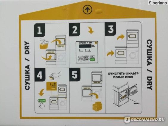 Инструкция на сушилке
