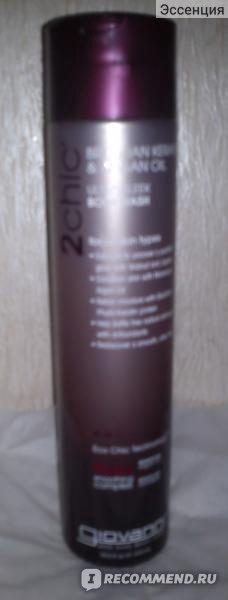 Гель для душа Giovanni , 2chic, Ultra-Sleek Body Wash, Brazilian Keratin & Argan Oil, 10.5 fl oz (310 ml) фото
