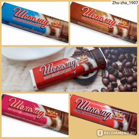 Шоколад с начинкой (Спартак)