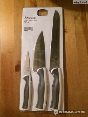 Набор ножей IKEA ЭНДЛИГ фото