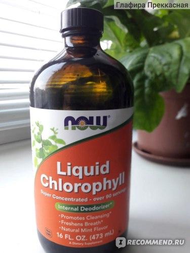 БАД Now Foods Liquid Chlorophyll, Triple Strength, Mint Flavor, Хлорофилл фото
