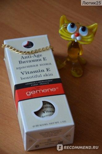 Масло Gemene  Витамин Е Anti-Age красивая кожа фото