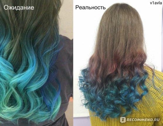 Цветное окрашивание волос в салоне  фото