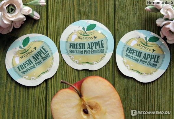 Эмульсия для лица SKINFOOD Fresh Apple Sparkling Pore Emulsion фото