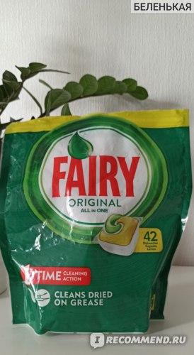 Таблетки для посудомоечной машины Fairy Original All in One Lemon фото