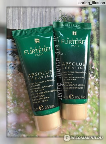 Крем для волос Rene Furterer Absolue Keratine Sublime Renewal Leave-in Cream фото