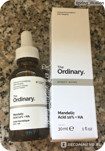 Сыворотка для лица The Ordinary Mandelic Acid 10% + HA фото