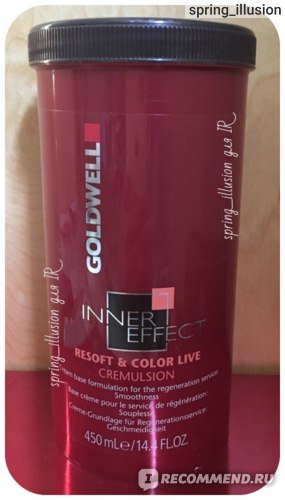 Маска для волос Goldwell Inner Effect Resoft & Color Live Cremulsion фото