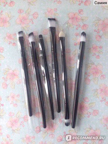 Кисти для теней Aliexpress 6PCS Professional Makeup Cosmetics Brushes Eye Shadows Eyeliner Nose Smudge Brush Tool Set Kit фото