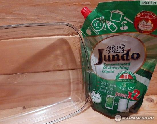 Гель для мытья посуды Jundo Green tea with Mint с гиалуроновой кислотой концентрированный фото