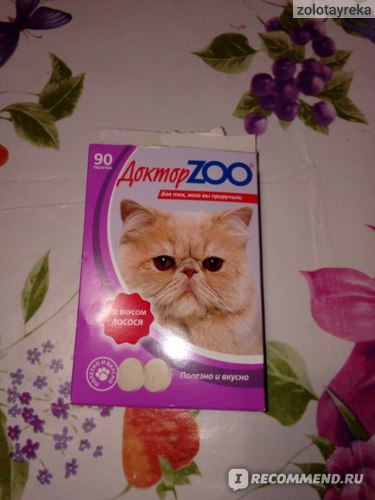 Лакомство для кошек Доктор Zoo С биотином со вкусом лосося  фото