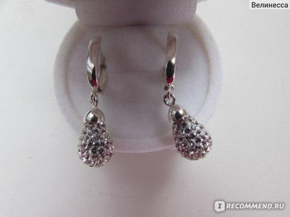 Серьги Красная Пресня серебро 925 с ювелирным стеклом PRECIOSA Арт. 3366674б фото