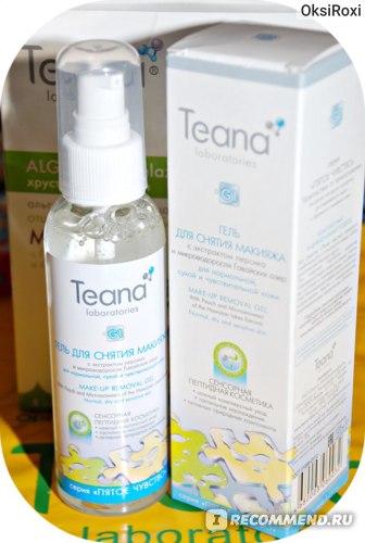 Гель для снятия макияжа Teana с экстрактом персика и микроводоросли Гавайских озер для нормальной, сухой и чувствительной кожи фото