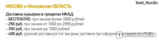 доставка в Москве и МО