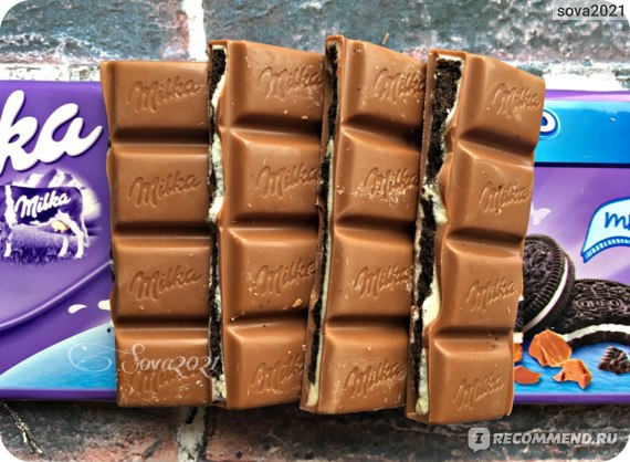 Шоколад Milka & Oreo фото