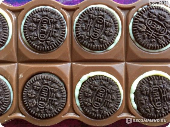 Шоколад Milka Oreo Sandwich Chocolates фото