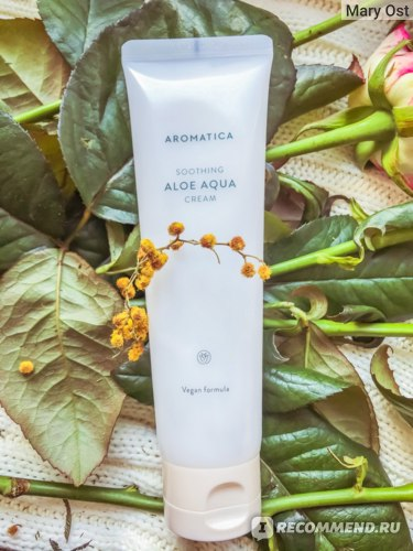 Крем для лица Aromatica Natural Aloe aqua Cream фото