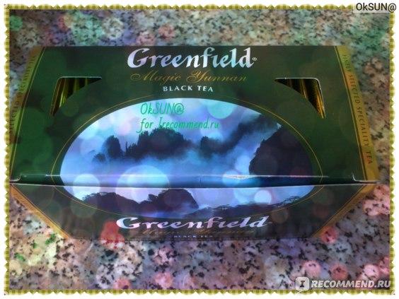 Упаковка чая Гринфилд Magic Yunnan в пакетиках