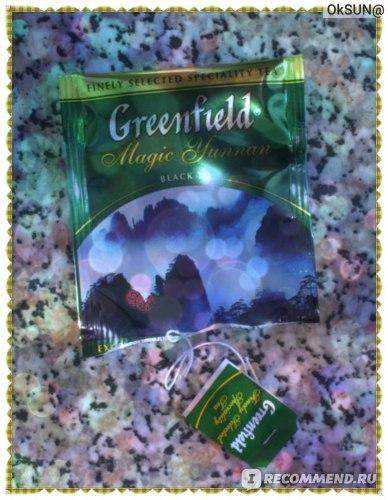 Ярлычок от пакетика чая Гринфилд Magic Yunnan