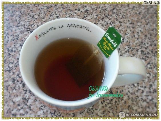 Пакетированный чай Гринфилд Magic Yunnan в процессе приготовления