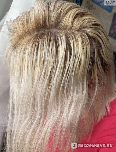 Волосы до осветления (неудачное мелирование)